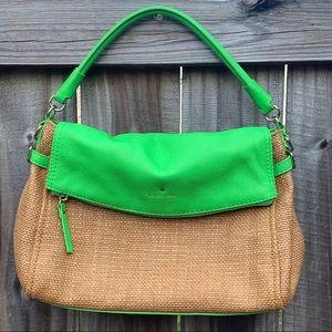 Kate Spade ♠️ Cobble Hill Devin wicker hobo bag